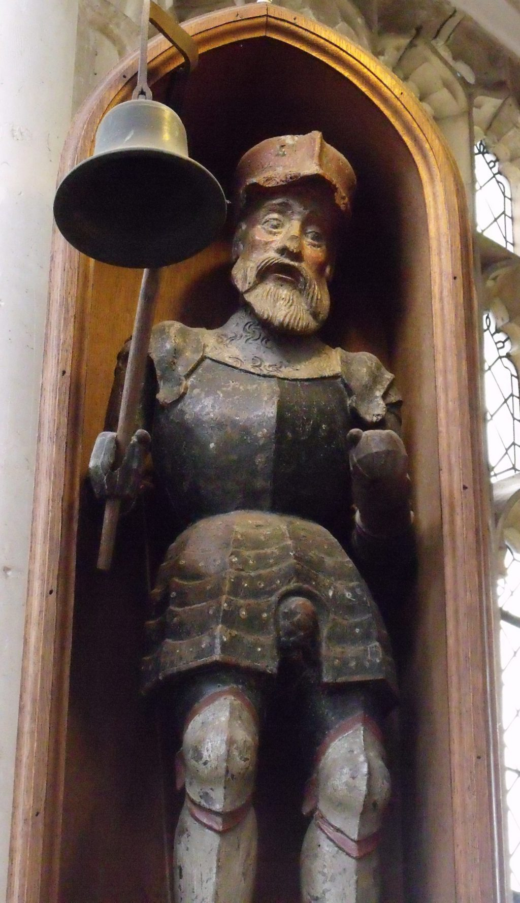 This little fellow used to strike the hour with his bell. Discover him in Blythburgh church.