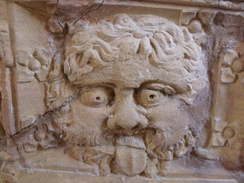 Hmm. Wonder why this man is sticking his tongue out? Rather rude but the builders of churches liked to have a bit of fun with the faces they carved.